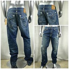 NWT $378 TRUE RELIGION RICKY Relaxed Straight Men`s Jeans Sz 38 x 34