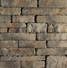 Cultured Manufactured Stone Veneer Wall Siding - Dry Stack Ledgestone - Peck