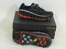 Merrell Mens All Out Peak Trail Running Shoe, Black & Red US 9.5 Free Shipping
