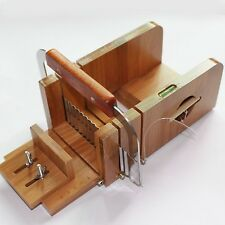 X-Haibei Practical Bamboo Loaf Soap Cutter Soap Making Supplies Arts Crafts New