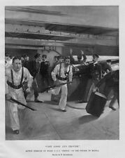 SPANISH AMERICAN WAR VOYAGE TO MANILA ACTION EXERCISES ON BOARD U. S. S. OREGON