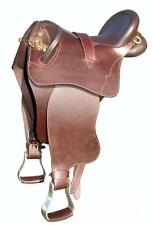 """16"""" Stockman fender Leather Stock Saddle 7"""" Gullet Discounted"""