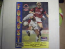 Nottingham Forest v Aston Villa FA Cup QF 13TH March 1996 Programme. LOOK.