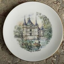 Azay Le Rideau Porcelaine De Limoges Reunies France Bone China Collector's Plate