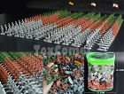 303 pcs Military Plastic Toy Soldiers Army Men 1:72 Figures in 12 Poses w/Flags