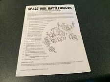 Warhammer space ork battlewagon instructions de montage games workshop 1990