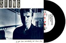 """STING - IF YOU LOVE SOMEBODY SET THEM FREE - 7"""" 45 VINYL RECORD PIC SLV 1985"""