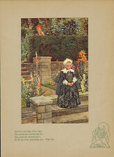 "Early 1900s ""Eleanor Fortescue brickdale"" stampa colorata. Bambina"