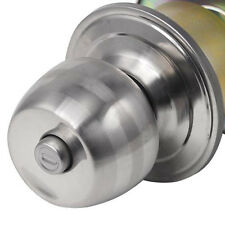 Stainless Steel Round Door Knobs Handle Entrance PaBTage Lock Entry with Key