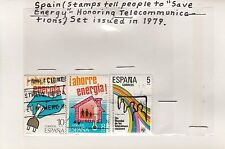 Spain 1979 Save Energy stamps