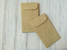 100 Parchment Mini Envelopes, Aged Coin Envelope,Bulk Business Card Envelopes