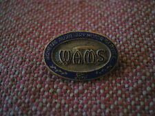 Scarce WW2 Canadian WOMEN'S AUXILIARY MOTOR SERVICE Gilt-Enamel LAPEL BADGE