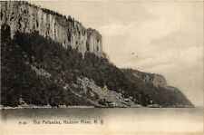 New York City The Palisades Hudson River Vintage Postcard (a853)