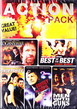 10- ACTION MOVIE PACK [DVD, 2011, 2-Disc Set] New Bronson,Norris,Sheen,Cool J