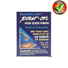 Envirotex Lite Pour on Epoxy Resin - 4oz - 118ml - Kit - Varnish Water Effects