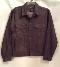 ROCA WEAR Men's Denim Fashion Jacket - Brown SZ 42 Pre-Owned