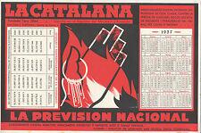 Papel secante. Publicidad de La catalana, la previsión nacional.