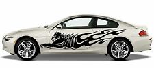 (S4) Jumping Fire Flame Wild Tiger Panther Camión lateral del coche decal pegatina de vinilo