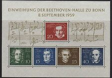 W Germany 1959 Beethoven Mini Sheet SG MS1233a MNH (Cat £33)