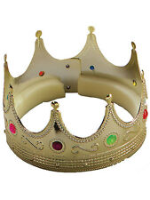 Christmas Hat Prince Golden Gold Crown Wise King Fancy Dress Nativity Mens Boys