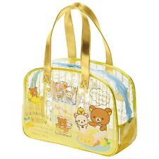 Store Pick-up OK San-X Rilakkuma Vinyl Pool Boston Bag w/Mini Case Lemon