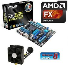 NEW AMD FX 9590 Eight CORE X8 CPU ASUS 990FX MOTHERBOARD LIQUID COOLED COMBO KIT