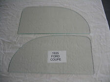 1935  FORD 5 WINDOW COUPE DOOR GLASS SET