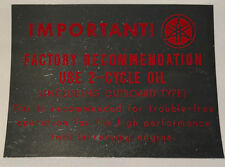 YAMAHA YL1 100 JET TWIN PETROL TANK CAUTION WARNING DECAL