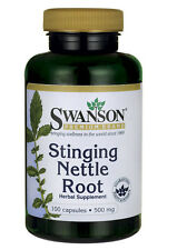 STINGING NETTLE ROOT PROSTATE URINARY TRACT RESPIRATORY 100 CAPS 500mg SWANSON