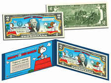 """PEANUTS """"SNOOPY VERSUS THE RED BARON"""" LEGAL TENDER U.S. $2 BILL! LIMITED EDITION"""
