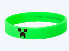 Minecraft Green Creeper Face rubber Bracelet Wristband Licensed Small/Medium S/M