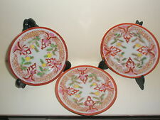 3 vintage Oriental Japanese/ Chinese plates