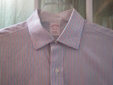 Brooks Brothers Stiped Non-Iron Buttons/F Long/S Dress Shirt Men's 151/2-34 **EX