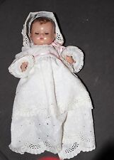 "1930's Effanbee 11"" All  Composition Patsy Baby Doll In Christening Gown"