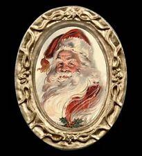 Vintage Victorian Miniature Dollhouse Santa Portrait Picture