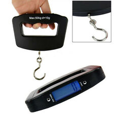 Portable Mini 50kg/10g LCD Digital Fish Hanging Luggage Weight Hook Scale Hot