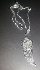 "Tibetan Silver  Angel  Wing Necklace fashion jewellery 18"" Chain Gift"