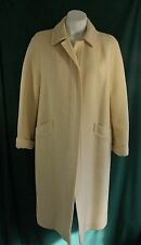 Vintage BETTY ROSE Buttonless Wool Basketweave Coat in Ivory - Size M/L
