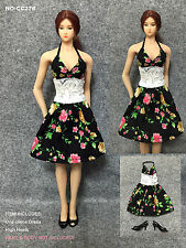 CC278 1/6 Sunshine Pattern One-piece Dress for HOT TOYS,VERY COOL TOYS,CY GIRL