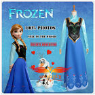 Disney Movie Frozen Snow Queen ANNA Dress And shirt Cosplay costume For Adult