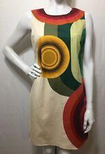 Desigual Art-To-Wear Sheath Dress Sleeveless Colorful European Geometric Size 12