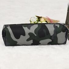 Hot 4 Colors Camouflage Pen Bag Pencil Case Pouch Stationery Cosmetic Makeup Bag