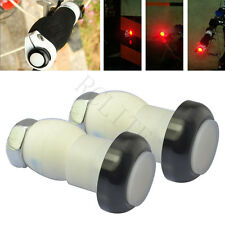 2x Cycling Bicycle Bike Handlebar End Plug LED Flash Light Safety Warning Lamp