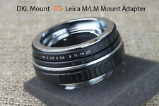DKL Retina Voigtlander Schneider TO Leica M LM camera mount Adapter 50mm 9 8 7 6
