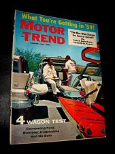 AUGUST 1958 MOTOR TREND MAGAZINE WAGON TEST, FORD, RAMBLER, DESOTO, OLDS