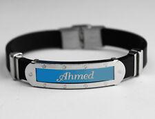 Silicone Nom Bracelet 'Ahmed'   Fête des Pères   Cadeaux pour les hommes