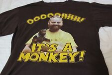 The Hangover Distressed T Shirt Tee Allen Zach Galifianakis Its A Monkey Brown