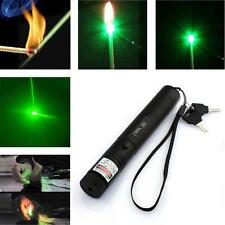 Green Laser Pointer Pen Focusjustable 532nm Zoomable Burning Lazer & Key  AD