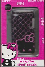 HELLO KITTY black pink iPod touch 4g wrap case cover