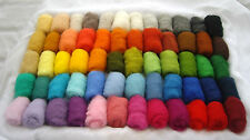 Sheep wool for needle felting 60 colors 6.35 ounces / 180 grams 23 mk